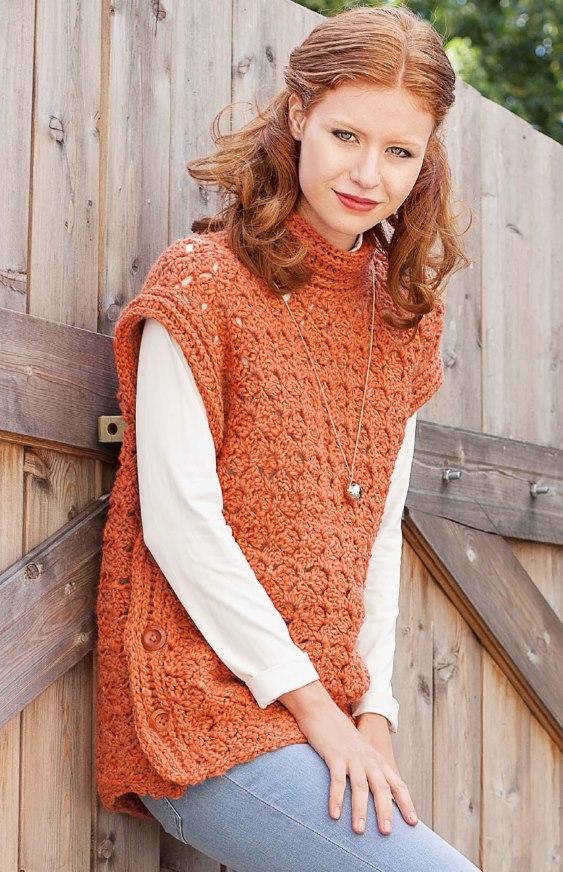 pulover transformer - Вязаный джемпер крючком молодежный