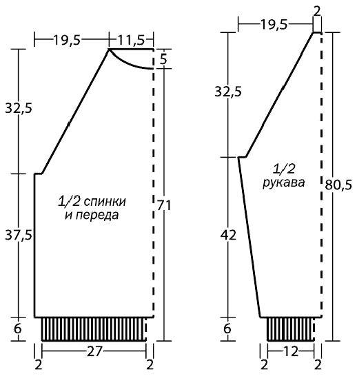 Вязаный белый мужской свитер спицами условные обозначения выкройка