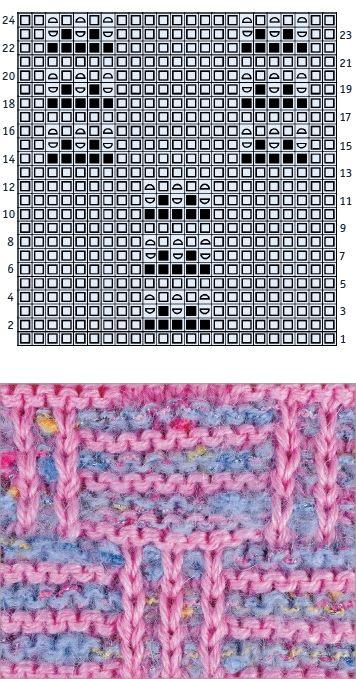 Двухцветный узор в клетку