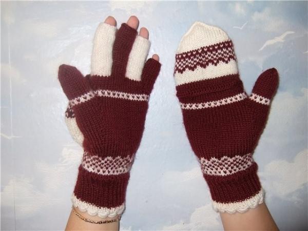 Как вязать варежки и перчатки