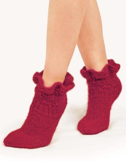 Красивые вязаные носки спицами