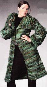 melanzhevoe palto spitsami 150x280 - Вязаное пальто спицами для женщин схемы и описание