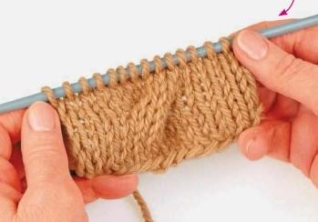 naklon kosy vpravo 2 - Виды петель для вязания спицами