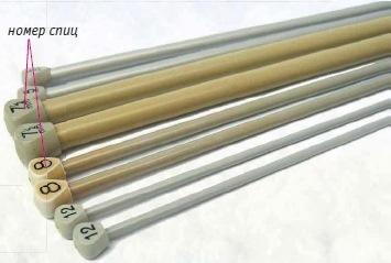 nomera spic - Виды спиц для вязания