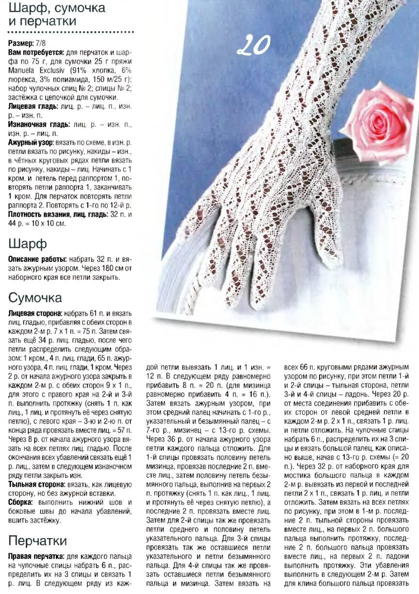 perchatki spicami 2 - Вязаные перчатки спицами