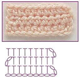 polustolbik s nakidom 0 - Виды петель для вязания крючком