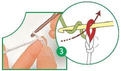 provjazyvanie vozdushnoj cepochki 3 - Виды петель для вязания крючком