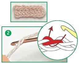 Способы провязывания петель цепочки 2