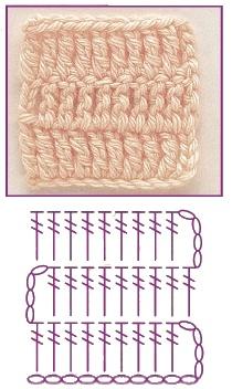 stolbik s dvumja nakidami 0 - Виды петель для вязания крючком