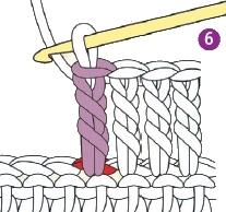 stolbik s dvumja nakidami 6 - Виды петель для вязания крючком