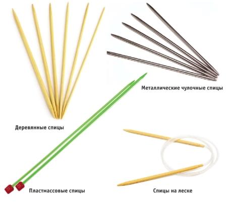 vidyi spits dlya vyazaniya - Виды спиц для вязания