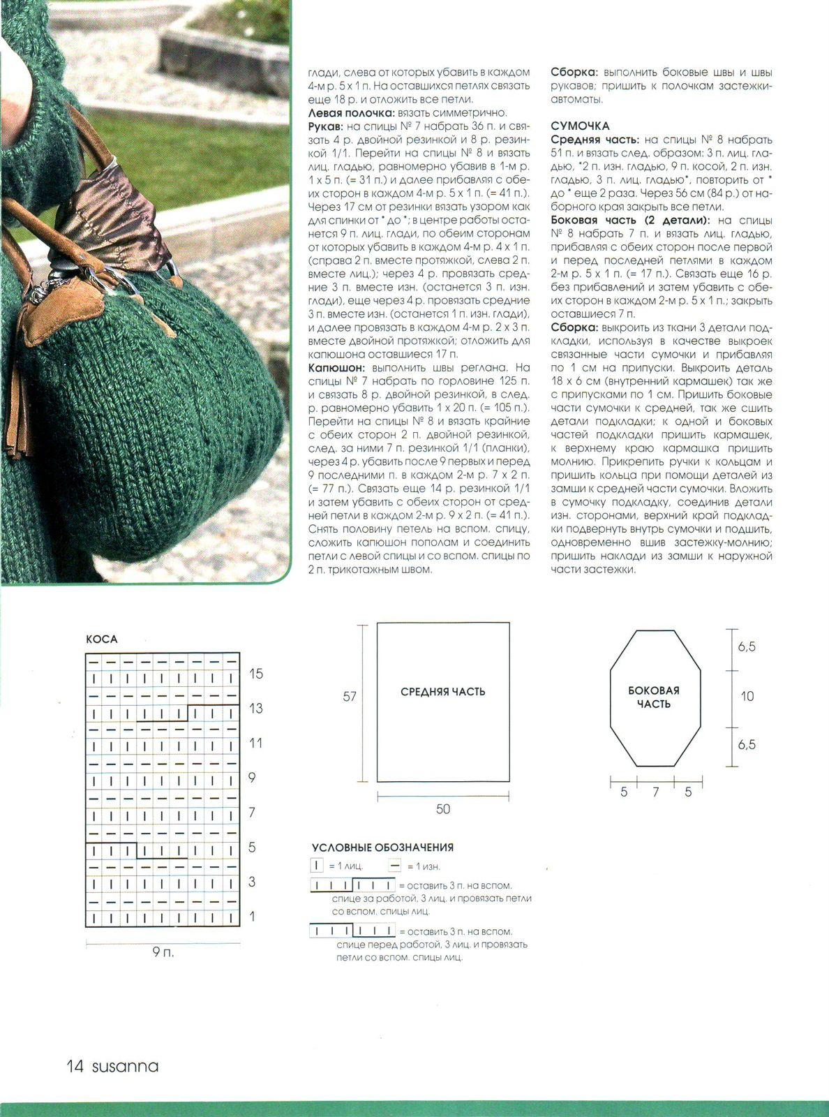 vjazanaja sumka spicami 4 - Вязаные сумки спицами схемы и описание