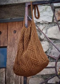 vjazanaja sumka spicami cherez plecho - Вязаные сумки спицами схемы и описание