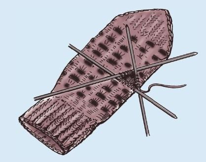 Вязаные теплые варежки спицами выполнение большого пальца