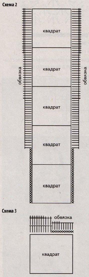 Вязаная безрукавка крючком из квадратов схема 2 3