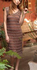 vyazanoe azhurnoe plate kryuchkom 150x280 - Вязаное ажурное платье крючком для женщин схемы и описание