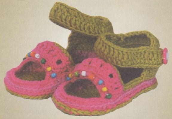 vyazanye pinetki sandali kryuchkom - Вязаные пинетки крючком для новорожденных схемы и описание