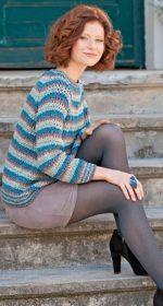 vyazanyiy pulover s rukavom reglan kryuchkom 150x280 - Вязаный свитер реглан крючком