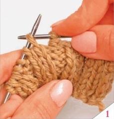 Закрытие петель резинки 2 х 2 без использования иглы