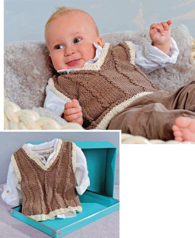 жилетка для новорожденного спицами