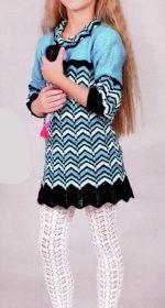 plate spicami dlja devochki 6 let 150x280 - Вязаное платье для девочки спицами