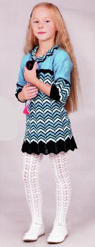 платье спицами для девочки 6 лет