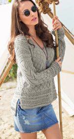 pulover s v obraznym vyrezom 150x280 - Вязаный пуловер с v образным вырезом спицами