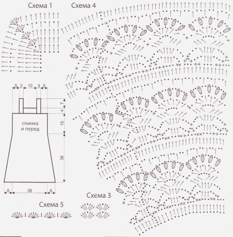 Схема вязания сарафана крючком 2