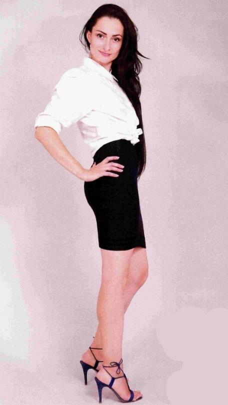 Вязаная прямая юбка спицами