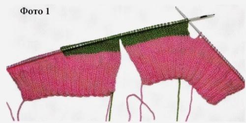 Вязание носков со швом на двух спицах