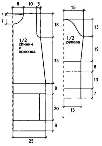 Вязаное пальто крючком из квадратов выкройка