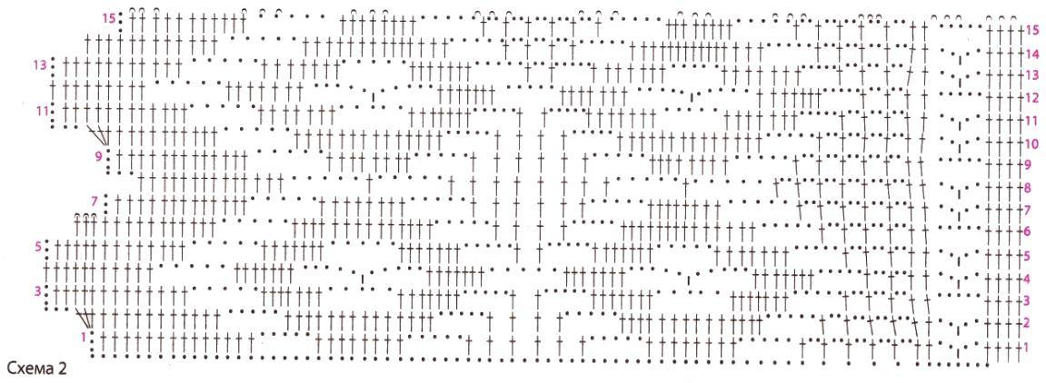 Вязание крючком покрывала на диван или кровать схемы 75