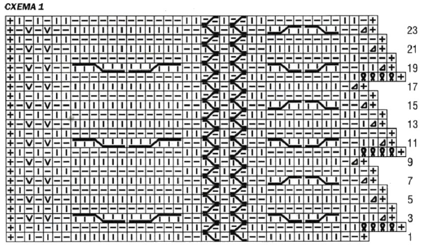 Вязаное пончо-накидка схема 1