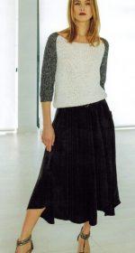 vyazanyj pulover s rukavami reglan spicami 150x280 - Вязаный пуловер реглан спицами женский