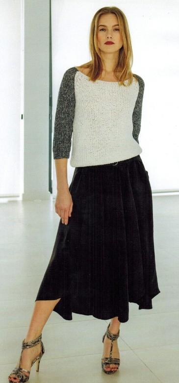 vyazanyj pulover s rukavami reglan spicami - Вязаный пуловер реглан спицами женский