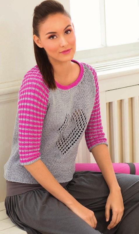 vyazanyj spicami pulover s rukavami reglan - Вязаный пуловер реглан спицами женский