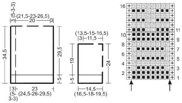 Вязаный жакет из пряжи секционного окрашивания схема