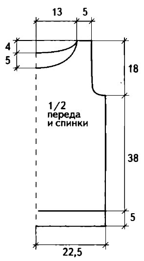 Вязаный желтый топ спицами выкройка