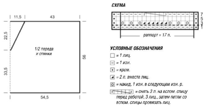 krasivoe poncho spicami shema - Вязаное красивое пончо спицами схемы и описание