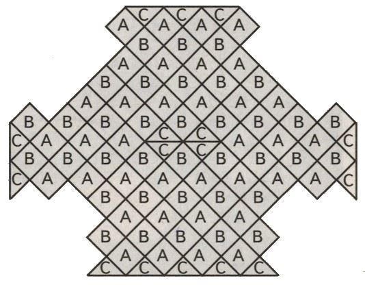 Пуловер в стиле пэчворк схема расположения мотивов