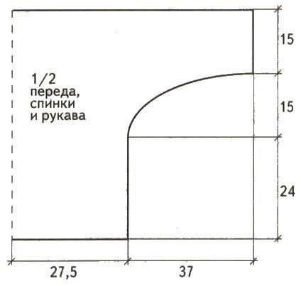 pulover v stile pechvork vykrojka - Вязаный пуловер крючком для женщин схемы и описание