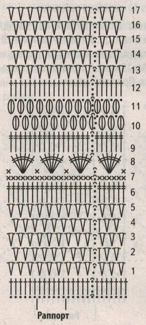 Вязаная черная юбка крючком схема 1