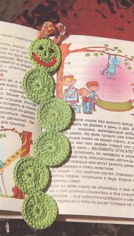 vyazanaya zakladka kryuchkom - Вязаные закладки крючком схемы с описанием