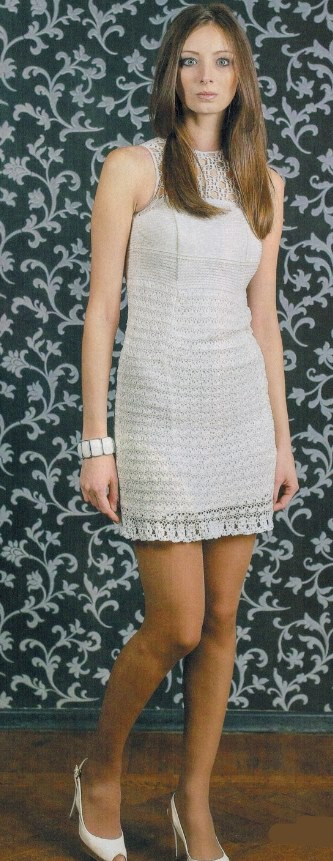 vyazanoe mini plate kryuchkom - Вязаное мини платье крючком