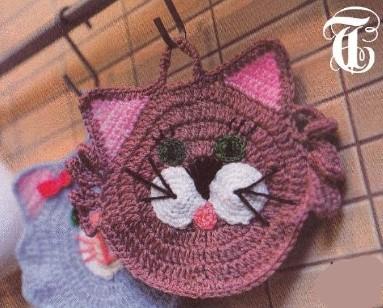 вязаные прихватки котики крючком все вязание