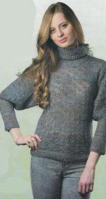 vyazanyj pulover kryuchkom s rukavom letuchaya mysh 150x280 - Вязаный пуловер женский крючком схемы и описание
