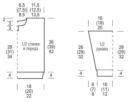 vyazanyj spicami detskij pulover s kapyushonom vykrojka - Вязаный свитер для мальчика спицами