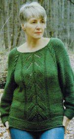 zelenyj pulover spicami 150x280 - Зеленые пуловеры