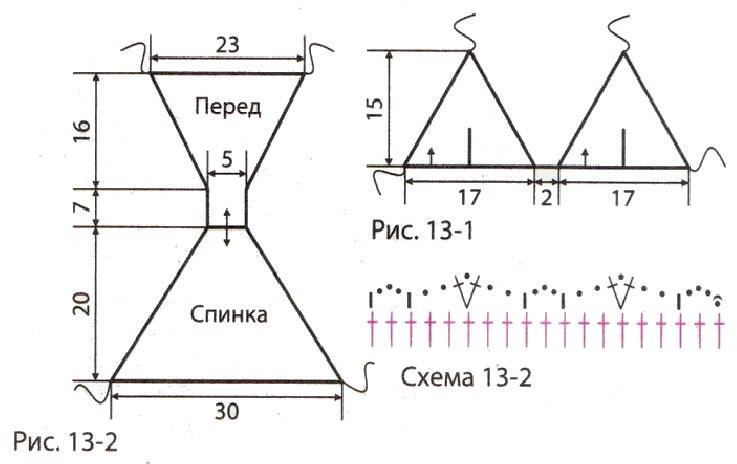 kupalnik svyazannyj kryuchkom vykrojka - Вязаный купальник крючком схема и описание