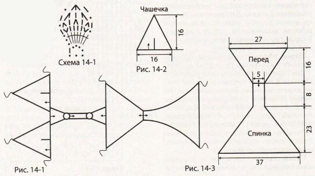 Сиреневый купальник связанный крючком выкройка